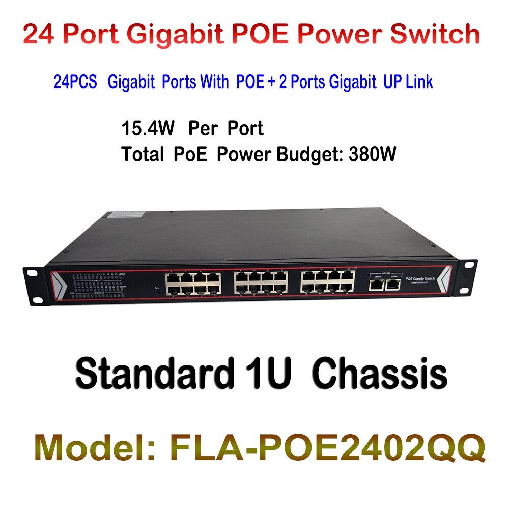 24 Ports Poe-switch + 2 Ports Gigabit Fast Ethernet Switch Netzwerk Ip-kameras Angetrieben Poe Adapter Für Indoor Ip Cam Lan Repeater Zu Hohes Ansehen Zu Hause Und Im Ausland GenießEn