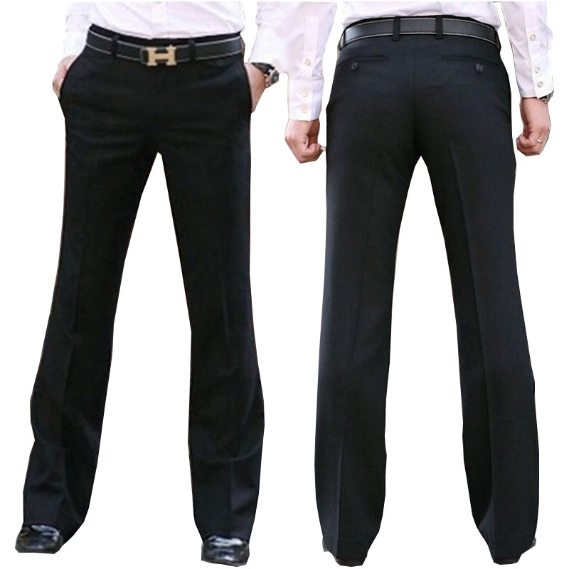 New Modis Flared Pants Male Summer Straight Suit Pants British Leisure Free Hot Feet Trousers Formal Pants For Men Dress Pants