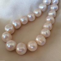 Wb 003202 12 15mm White Off Round Cultured Freshwater Pearls Natural Loose Beads 15