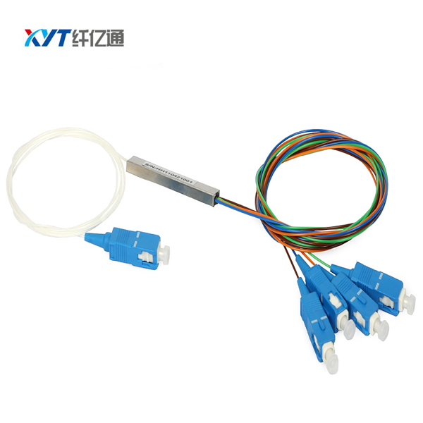 FTTH GEPON 2X4 Blockless PLC Splitters with SC/ UPC APC Connector 0.9mm Fiber Optic Splitter Free Shipping
