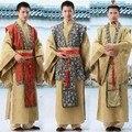 Nueva Han de china ministro tradicional antiguo traje traje traje de hombre de satén borda el príncipe emperador escenario envío gratis del vestido