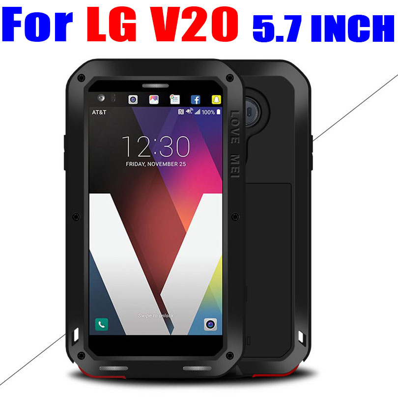 För LG V20 5,7 INCH Original LOVE MEI Aluminium Metal + Gorilla - Reservdelar och tillbehör för mobiltelefoner