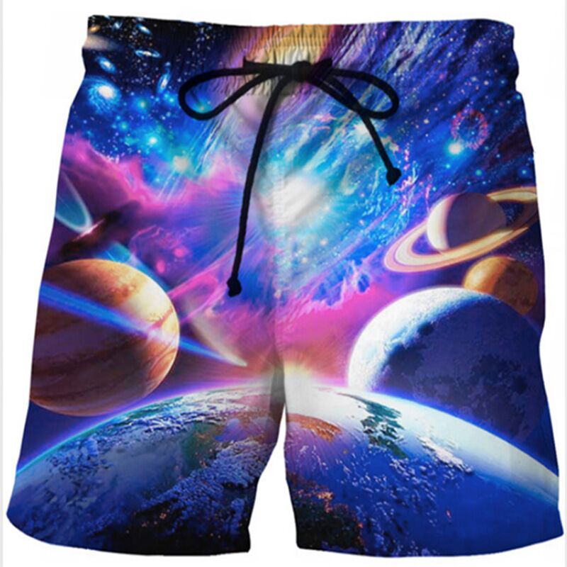 Dutiful Sweolso Men Summer New Beachwear Quick Dry Short Trousers Causal Drawstring Sportwear Male Shorts 3d Star Printing Plus Size 4xl Men's Clothing