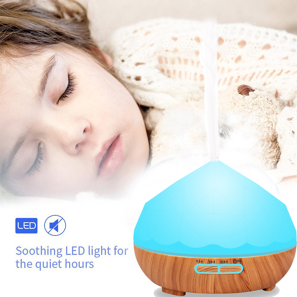 Air Humidifier Essential Oil Diffuser Home Aromatherapy Electric Ultrasonic Mist Maker for Office Wood Diffuseur Huile Essentiel