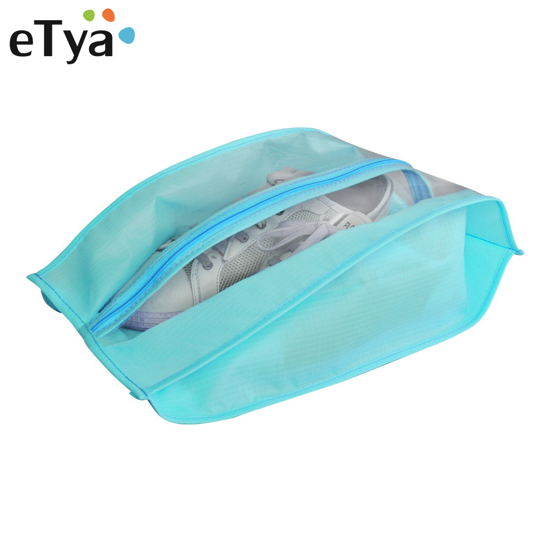 eTya Travel Men Women Waterproof Clothing Shoes Packing Organizers Storage Pouch Portable Zipper Cosmetic Bag Shoes Cover ...