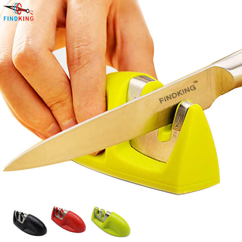 FINDKING Two Stages (Diamond & Ceramic) Kitchen Knife Sharpener knives Sharpening Stone Household Knife Sharpener Kitchen Tools