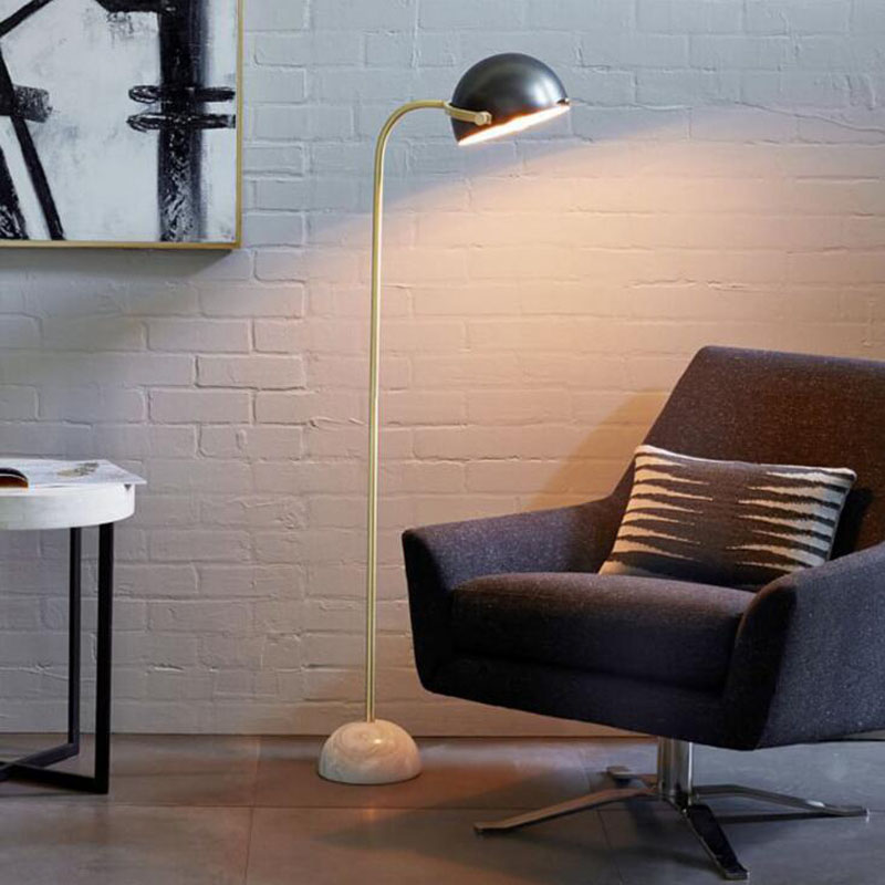 Modern minimalist hat floor lamp model room American Nordic villa marble bedroom floor lamp led floor lamp led lamps floor led french garden vertical floor lamp modern ceramic crystal lamp hotel room bedroom floor lamps dining lamp simple bedside lights