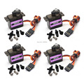 4pcs/lot  MG90S Metal Gear 9g Micro Tower Pro Servo for RC Plane Trex 450 Helicopter