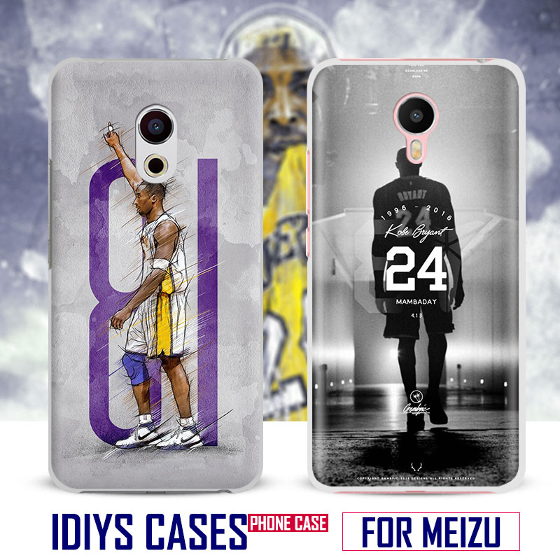For MEIZU Meilan M3 M3S M3e M5 M3Note M5Note MX6 M3X U20 PRO5 PRO6 PRO6S Kobe Bryant Black Mamba Phone Case Shell Cover Bag