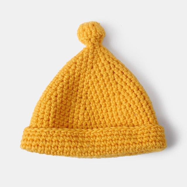 BooLawDee Women wool handwork knitting skullies beanies cap female winter warming wear brown red blue yellow black grey 4J024