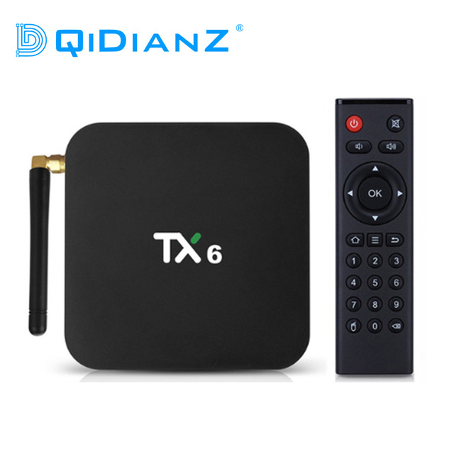 Tanix TX6 חכם אנדרואיד 9.0 טלוויזיה תיבת 4G 32G Allwinner H6 Quad Core 2.4G + 5G כפולה Wifi BT4.1 ממיר 4 K HD H.265 מדיה נגן