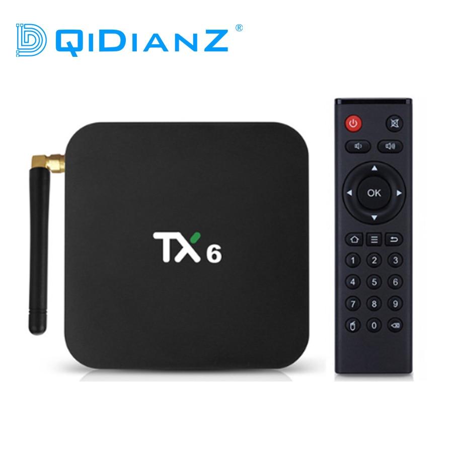 Tanix TX6 Astuto di Android 9.0 TV BOX 4G 32G Allwinner H6 Quad Core 2.4G + 5G dual Wifi BT4.1 Set Top Box 4 K HD H.265 Media Player