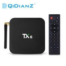 Tanix tx6 스마트 안드로이드 9.0 tv 박스 4g 32g allwinner h6 쿼드 코어 2.4g + 5g 듀얼 와이파이 bt4.1 셋톱 박스 4 k hd h.265 미디어 플레이어
