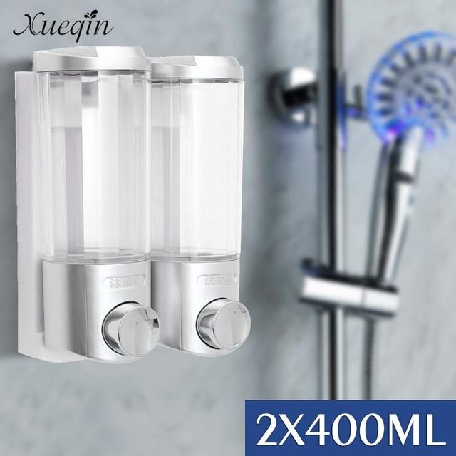 xueqin 2x400 ml bad doppelte seifenspender wandmontage home hotel dusche krper lotion shampoo dispenser - Seifenspender Dusche Wandmontage