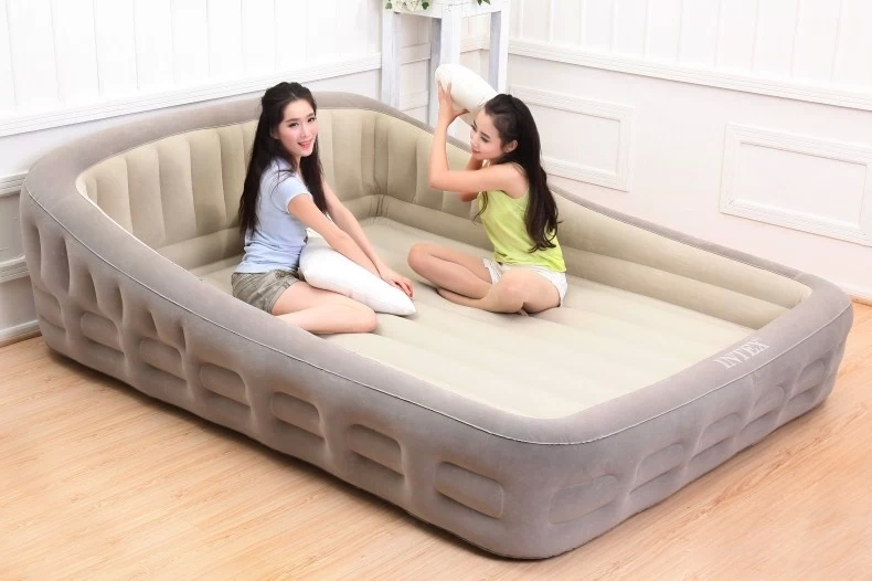 Airbed Indoor Inflatable Beds King Pump Plush Bed Air Comfort Mattress  Lounging Furniture Living Room Bed Inflatable Bed In Beds From Furniture On  ...