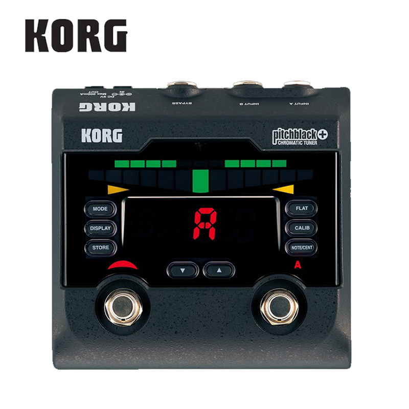 Korg Pitchblack PB-02 Specifications Guitar Base Pack of 2 Concurrent Connectable Pedal Tuner korg pitchblack portable pb 04 si