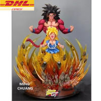 23.62Statue DragonBall Saiyan Son Goku Bust With LED Light Head Portrait GK Action Figure Collectible Model Toy 60CM BOX D915