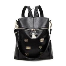 PU Leather Women Backpacks for Teenagers female Back Pack Large Capacity  Travelling Bags Vintage school bag backpack womens