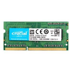 Image 1 - Crucial Laptop Speicher 8GB = 2PCS * 4G PC3L 12800S DDR3L 1600HMZ 4GB laptop RAM 1,35 V