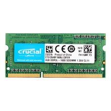 Crucial memória do portátil 8gb = 2 peças, * 4g pc3l 12800s ddr3l 1600hmz 4gb ram do portátil 1.35v v