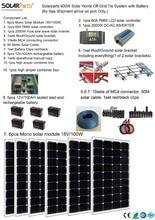 Boguang Solarparts 1x 600W Solar Home off grid tie systems sea shipment 6pcs 100W mono solar