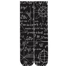 mathematical formula 3d print socks 2018 drop-shipping wholesales 38cm length