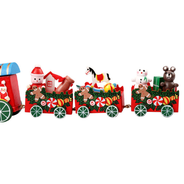 4pcsset wood christmas xmas train decoration decor gift toys for newborns games for children - Christmas Decoration Games