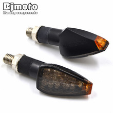 2 Pcs Motorcycle LED Turn Signal Light Blinker Side Maker For Harley Honda Yamaha Kawasaki Suzuki Motorbikes