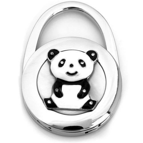 Round Metal Folding Rhinestone Panda Handbag Bag Purse Hook Bag Holder Holder Charm