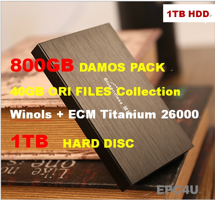 Winols 2.24\2.26+800GB DAMOS PACK 40GB ORI FILES AND TUNED PACK+1TB HDD+ECM TITANIUM 1.61 With 26000 Driver