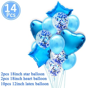 Image 5 - Heronsbill 1st Happy Birthday Party Decorations My First Baby Boy Girl Helium Number 1 Balloons Banner Cupcake Toppers Supplies