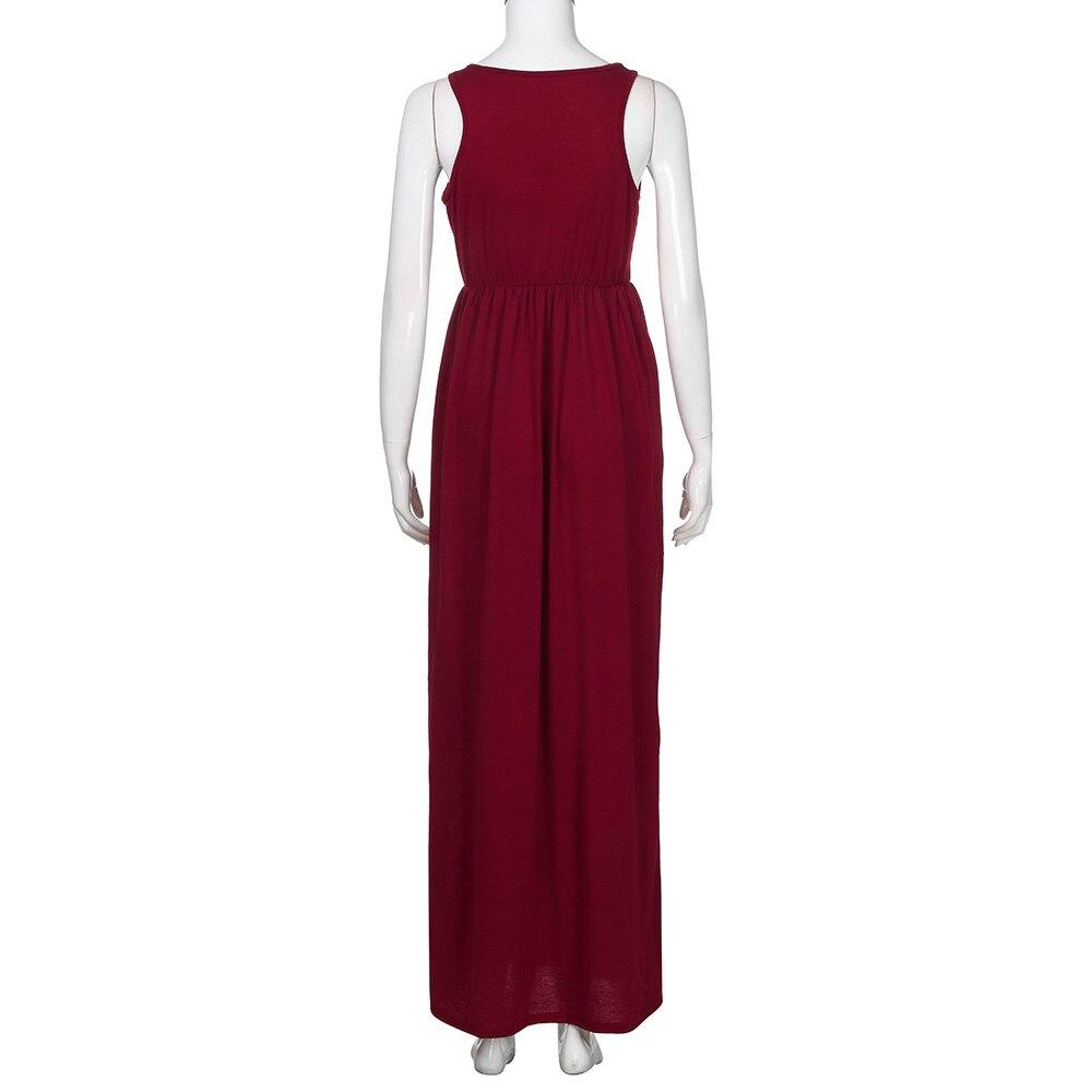 Dress Womens Summer Dress Sexy Woman Polyester Casual Dress Solid Long Boho Dress Lady Beach Summer Sundrss