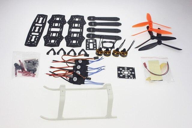 Kit desmontado Mini 250 Eixos De Fibra De Carbono Quadro Aeronaves com Motor ESC F09205-F