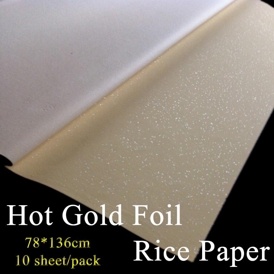 70*138cm Chinese Painting Rice Paper hot gold foil Xuan Paper Artist Art treasures Painting supply vladimir lukonin the lost treasures persian art