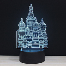 Luxury Opulent Palace LED 3D NightLight Acrylic Night Lamp Light Luminary With Touch And Remote Lamps Lights Kids Decoration GiC