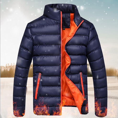 Frete Grátis Mens Soprador Casacos quentes casual sólida fino Casaco de Inverno Para Baixo Homens Jaqueta Ao Ar Livre respirável Leve M-5XL