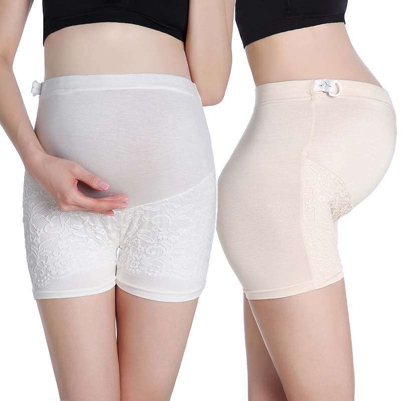 Envsoll Maternity Safety Lace Short Pants Pregnancy Clothes for Pregnant Woman Pregnant Underpants Underwear Shorts Lntimates
