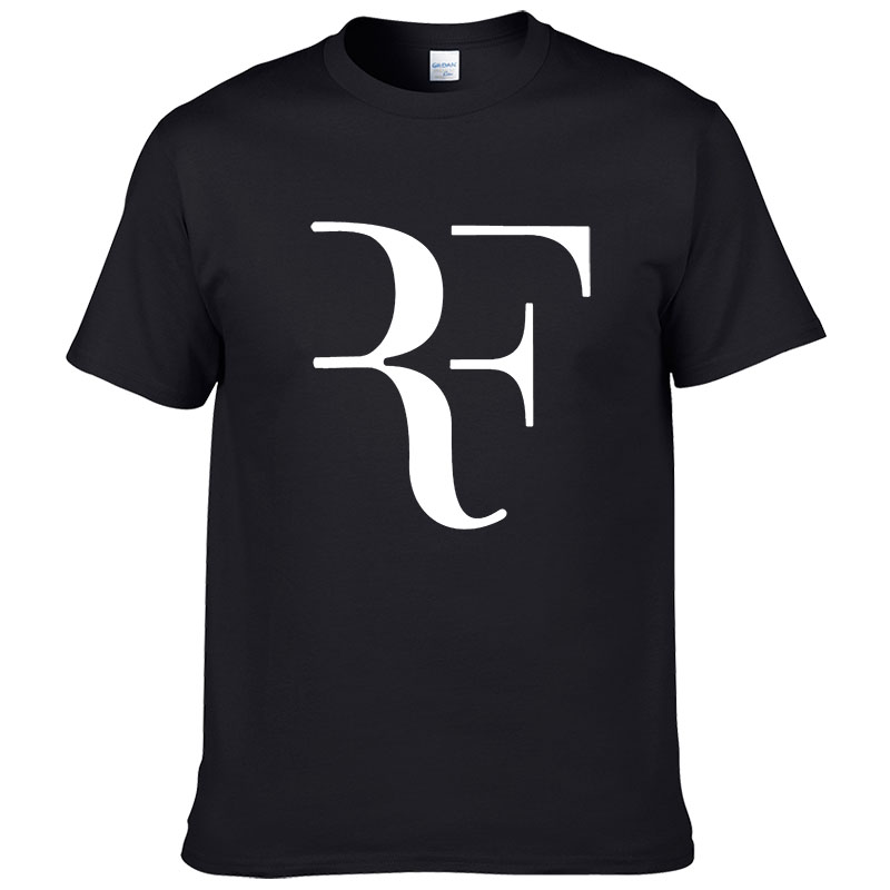 Fashion Roger Federer RF Print   T     Shirt   Men Short Sleeve Tshirts Tops Hip Hop   T     shirt   homme Man cotton casual brand Tees #279