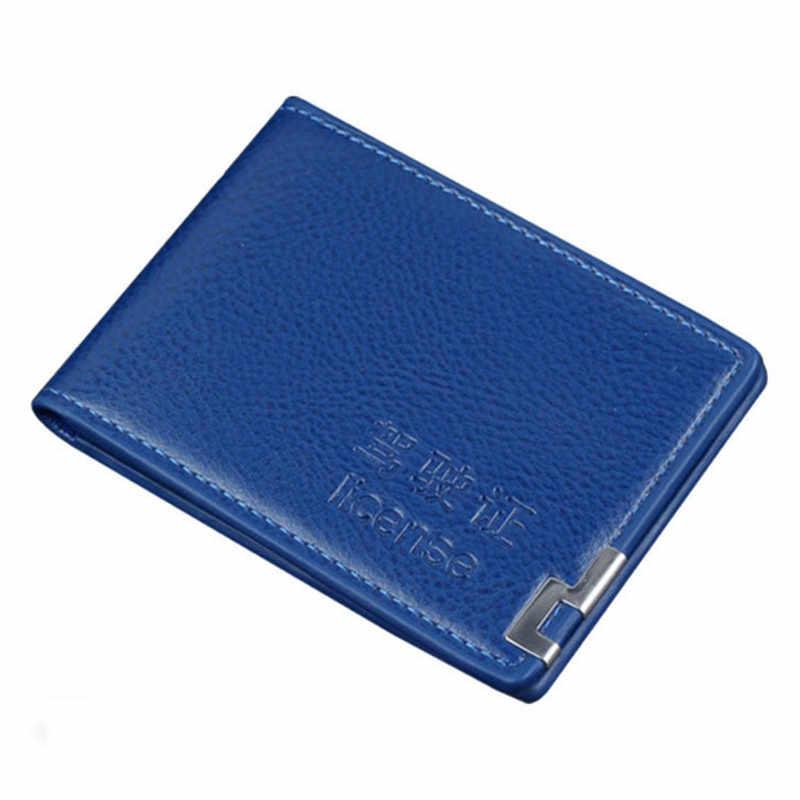 Portatarjetas de cuero PU para documentos de conducción de automóviles, cartera 3164