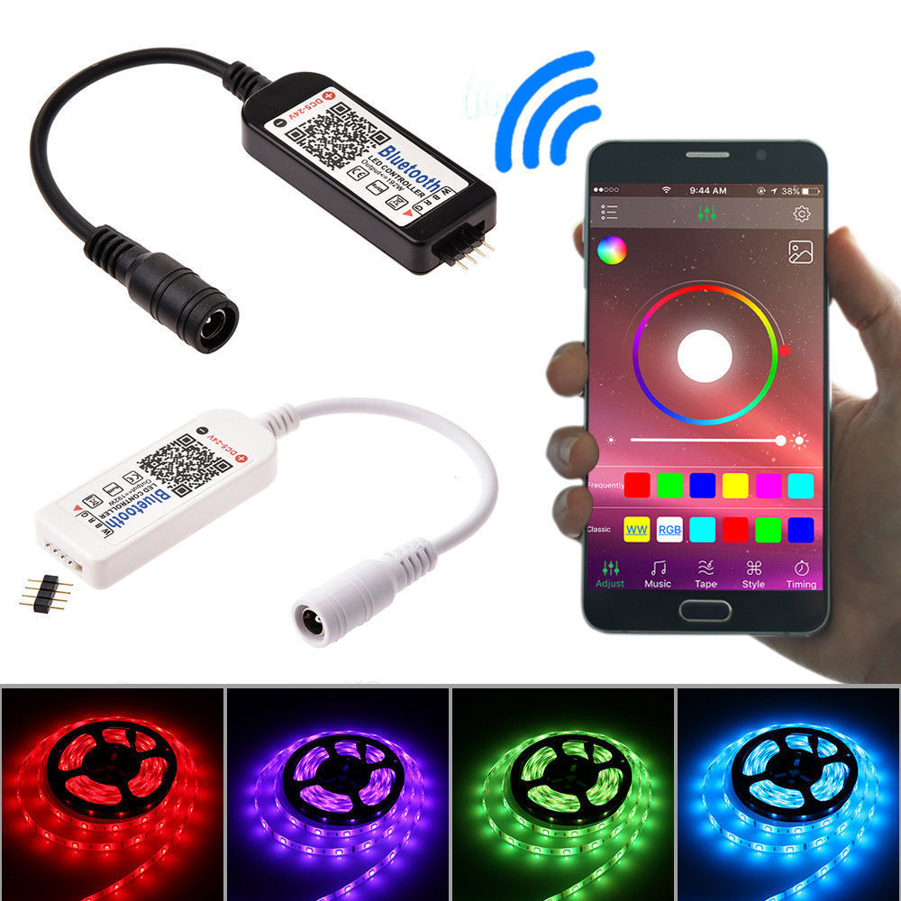 Mini Bluetooth/ LED Controller&Remote 5-24V For 5050 3528 RGB/RGBW LED Strip Light aptoco chinese reflexology walk stone pain relieve foot leg massager mat health care acupressure