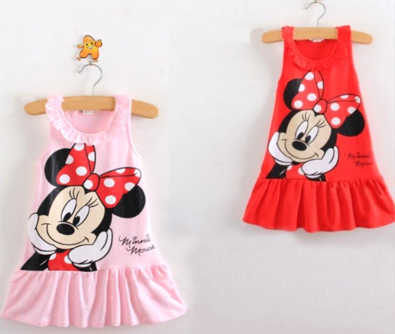 Girls dress Minions summer beach dress cotton sleeveless pink fuchsia