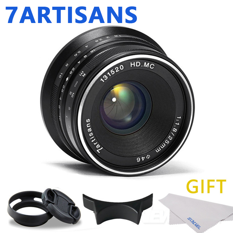 7artisans 25mm / F1.8 Prime Lens to All Single Series for Sony E Mount /Canon EOS-M Mount/Fuji FX Mount /M43 Panasonic Olympus 7artisans 25mm / F1.8 Prime Lens to All Single Series for Sony E Mount /Canon EOS-M Mount/Fuji FX Mount /M43 Panasonic Olympus