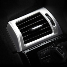 Для BMW X3 X4 F25 F26 2013-2017 ABS Матовый хром сбоку выходе Кондиционер Обложка отделка наклейки стайлинга автомобилей аксессуар для LHD