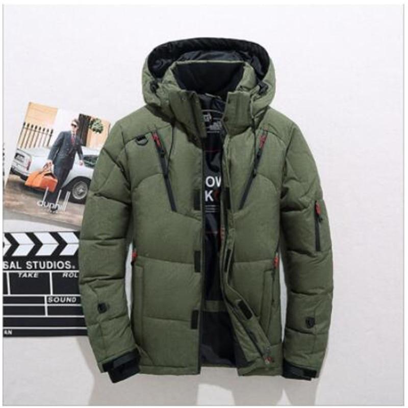 2018 Winter Duck   Down   Jacket Men New Fashion Fur Collar Jacket Men Thick Warm Mens White Duck   Down     Coat   Jaqueta Masculina