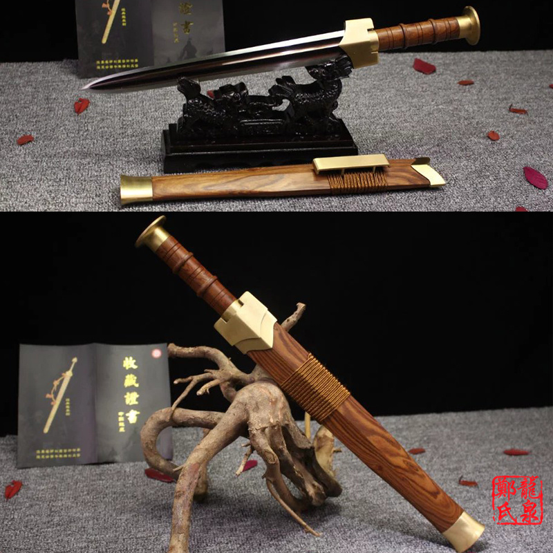 US $262 5 10% OFF|Traditional Chinese Sword Damascus Steel SuanZhi Wood  Scabbard Metal Craft Handmade Antique Swords Small Knife-in Swords from  Home &