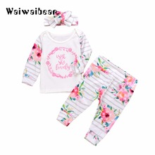New Autumn Baby Sets Long-Sleeved Tops +Pants 2PCS  Cotton Infant Child Suit Clothes  For  Boys And Girls