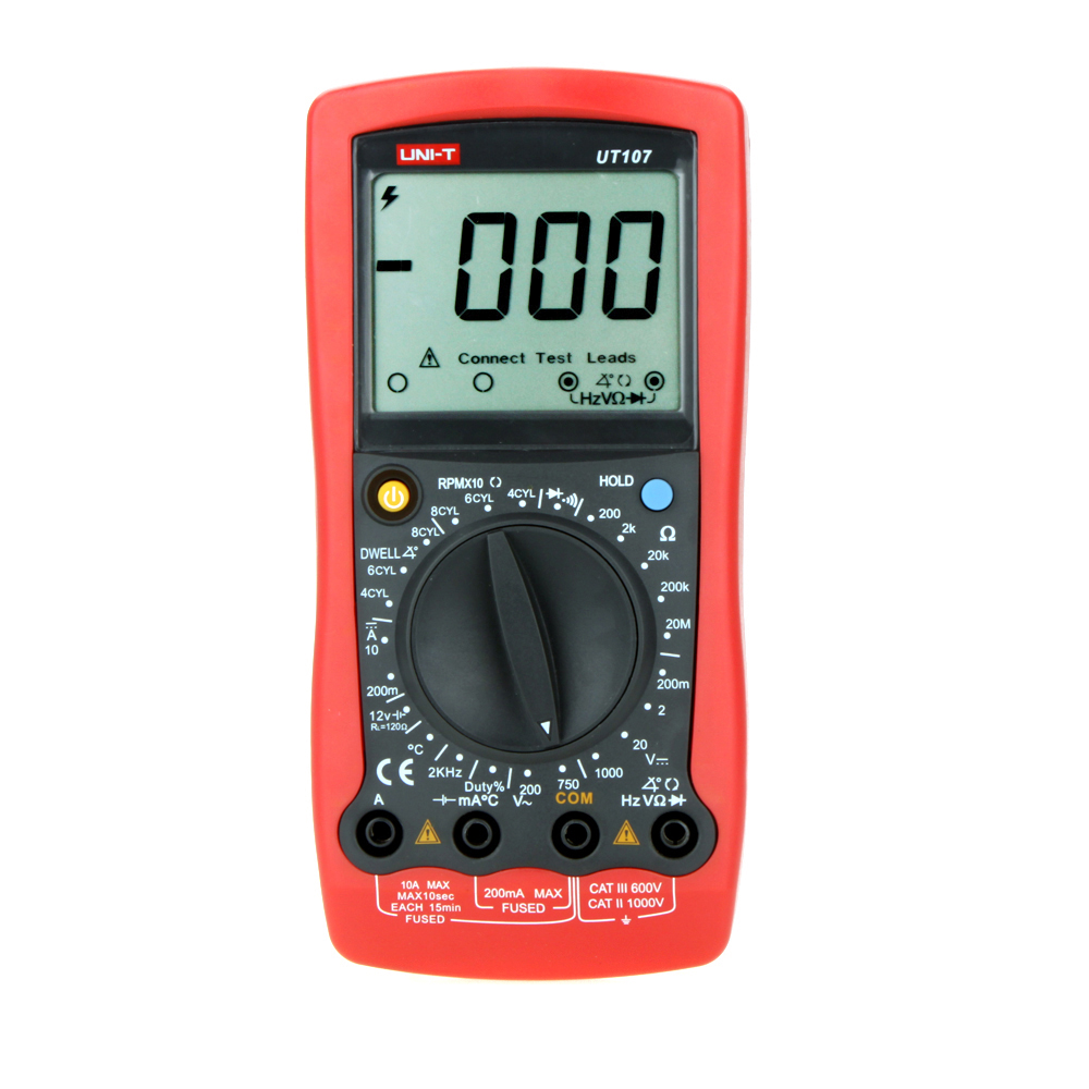 UT107 Automotive Digital Multimeter Battery Test Data Hold Handheld Multipurpose Meters Manual Range Multimeter Input Protection цена