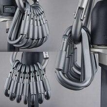 Wspinaczka zestaw haczyków podróżnych sprzęt biwakowy aluminiowy sprzęt survivalowy hak górski karabinek Mosqueton