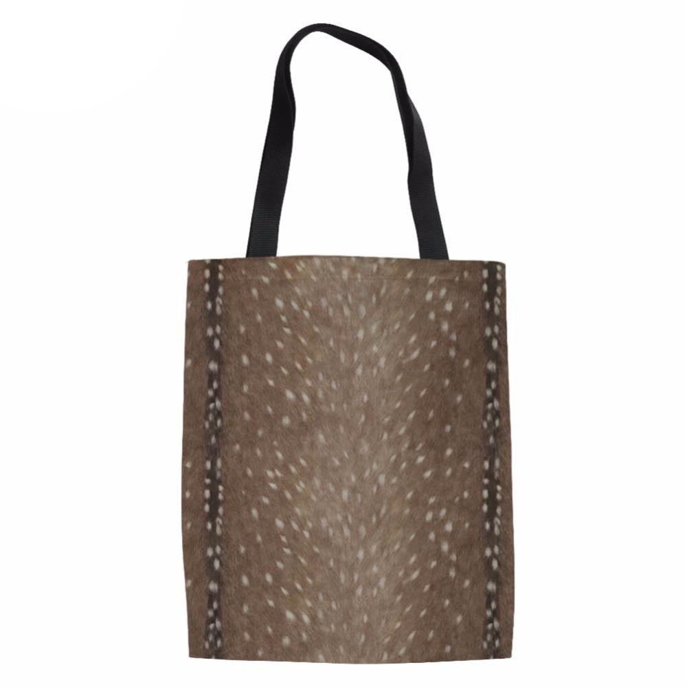 db273318fda0 Сумки для Для женщин для пляжа 2018 олень DIY печать дамы сумка девушки  ежедневно Применение Сумки