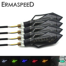 4 pcs Motorcycle LED Turn Signal Light Indicators Blinkers Errow Look Turn Signals Universal for Honda Kawasaki Ducati Aprillia